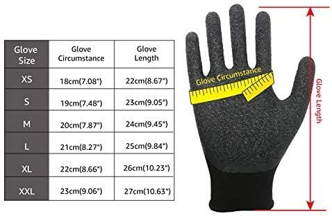 EvridWear Crinkle Latex Rubber Hand Coated Safety Work Gloves for Men Women General Multi Use Construction Warehouse Gardening Assembly Landscaping (XS-Size) Red 120 Pairs Pack
