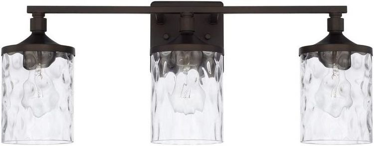 HomePlace 128831BZ-451 Colton Vanity, 3-Light 300 Total Watts, Bronze