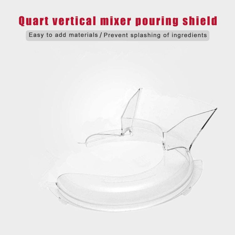 VideoPUP Pouring Shield Compatible with KitchenAid- KN1PS 4.5Quart Stand Mixer Parts & Accessories