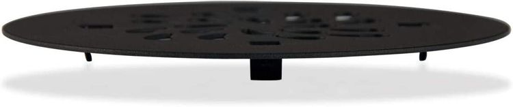 Shower Drain Cover (4-1/4 in Round) Replacement  Custom Drip Drain Grate   Shower Base Strainer Grid (Matte Black)
