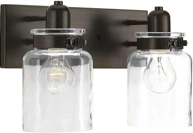Bathroom Vanity Light Fixture - Bath Interior Lighting (Antique Bronze, 2 - Lights)
