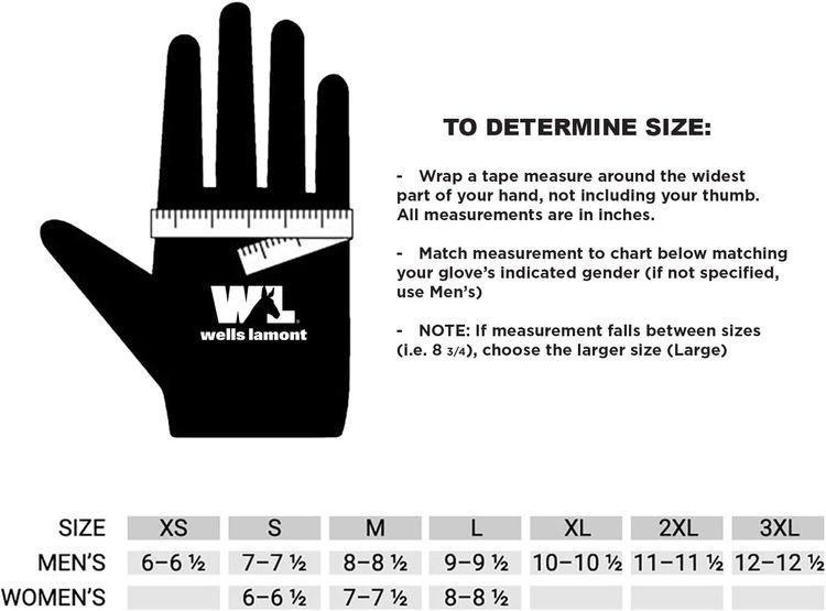Men's HydraHyde Leather Work Gloves, Water-Resistant, Medium (Wells Lamont 1164M)