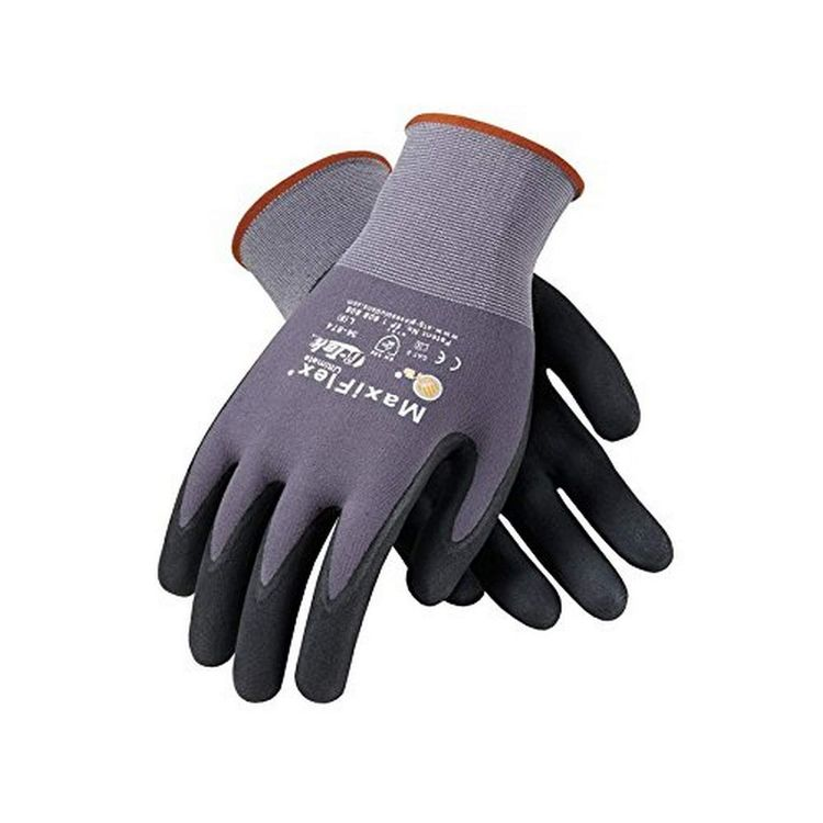 PIP 34-874/XS Maxi Flex Ultimate 34874 Foam Nitrile Palm Coated Gloves, Gray, XS (Pack of 12)