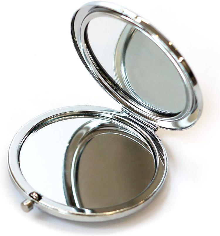 Soomeir Compact Mirror, Pocket Mirror, Mini Mirror for Women, Folding Travel Mirror,Small Mirror for Purse(Bird)