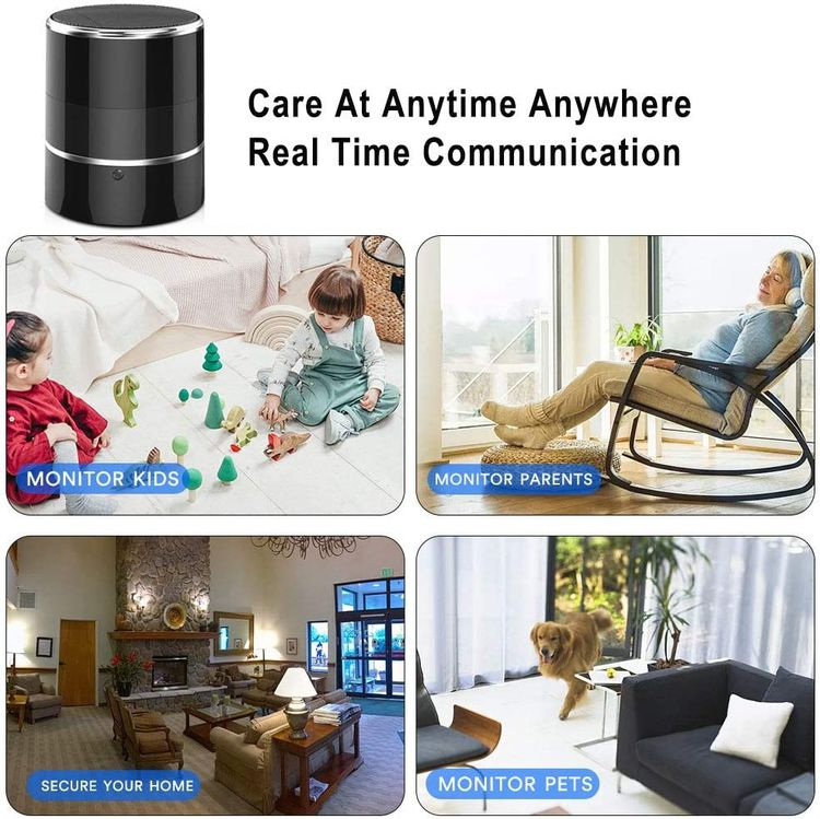 Hidden Spy WiFi Camera in Bluetooth Speaker with 240° Viewing Angle,YuanFan Wireless Secret Security Cameras,Nanny Cams Phone App,Full Hd 1080P,Motion Activated for Home Offices Store