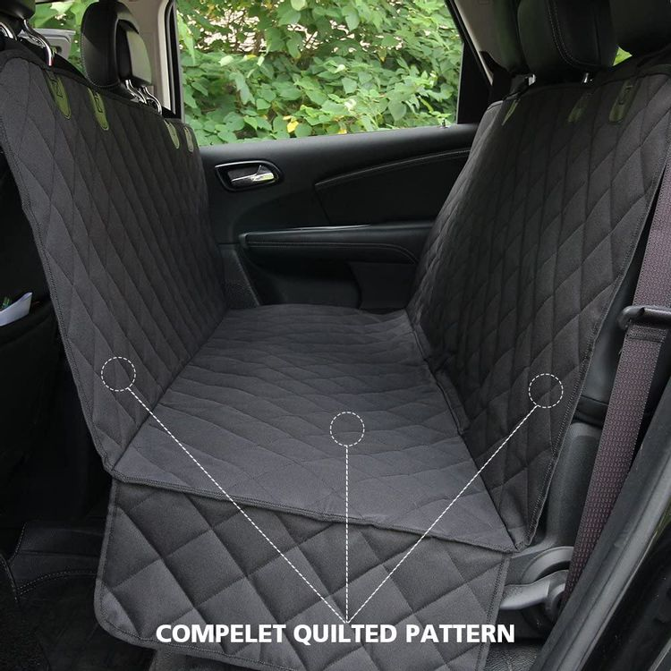 Honest Dog Car Seat Covers with Side Flap, Pet Backseat Cover for Cars, Trucks, and Suv's - Waterproof & Nonslip-Luxury(Quilted)