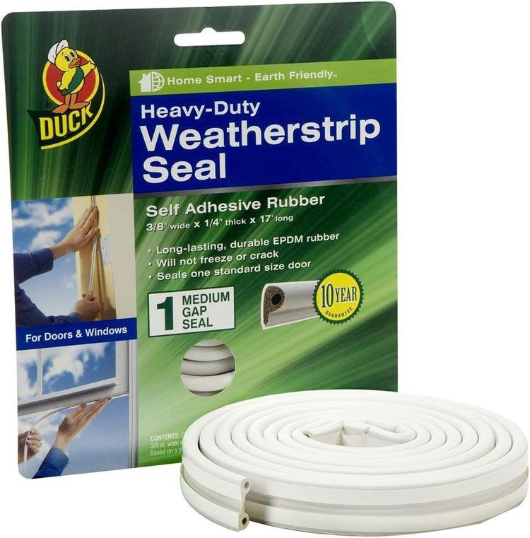 Brand Heavy-Duty Self Adhesive Weatherstrip Seal for Medium Gap, White, 3/8-Inch x 1/4-Inch x 17-Feet, 1 Seal, 282435 (New Version)