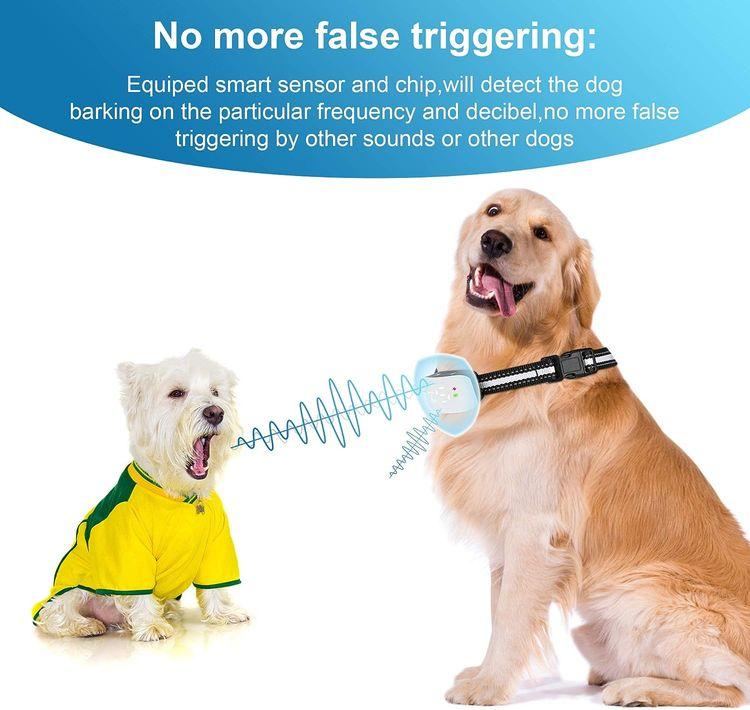 Bark Collar Dog Bark Collar Rechargeable Shock Collar with Beep Vibration Dog Shock Collar for Small Medium Large Dogs
