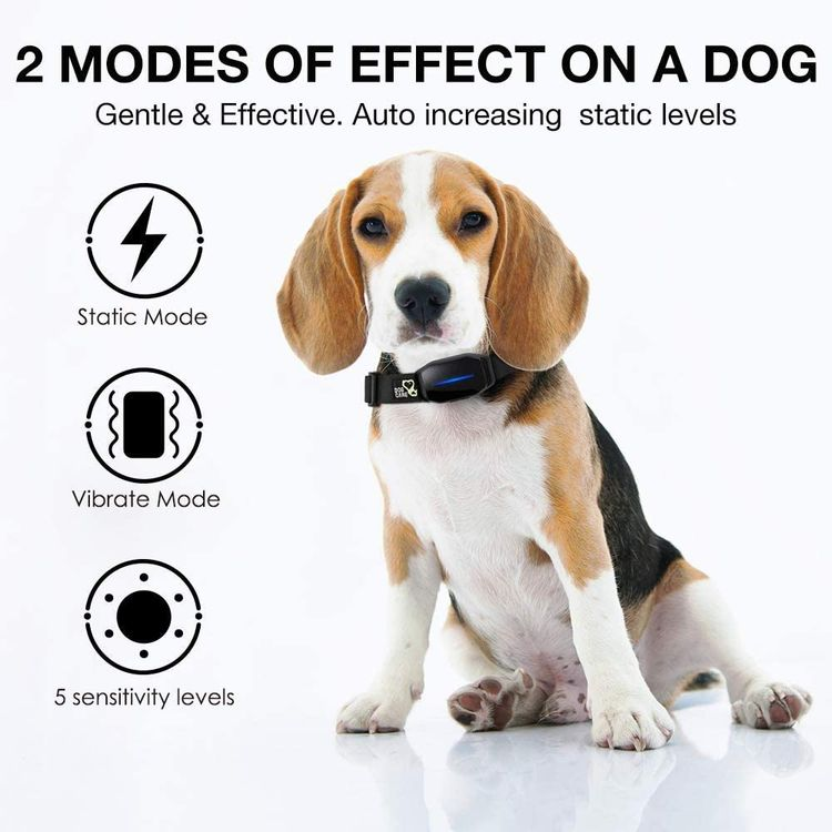 DOG CARE Automatic Bark Collar-Comfortable Dog bark Collar, Easy to use with beep, Vibration & Shock Modes, Very Effective and Humane Dog Shock Collar with 5 Adjustable Sensitivity Levels, No Remote