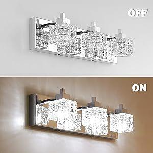 bathroom light over mirror